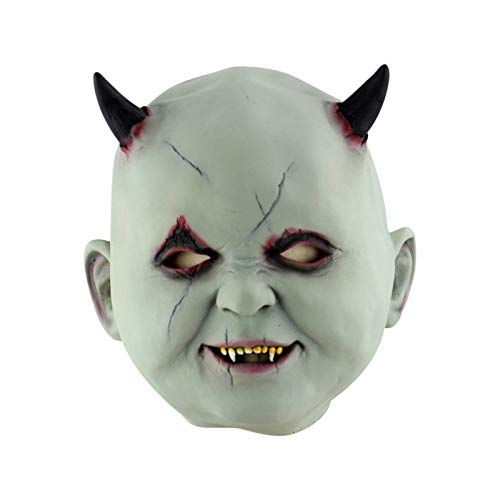 Corcrest - Festival Party Supplies Halloween Latex Mask Horrifying Mask Latex Mask with Hat for Masquerade Halloween Costume Bar Realistic [E] (Latex Mask Scarecrow)
