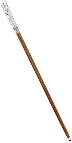 - Design Toscano Empress Collection Dandy Fellow Chrome Solid Hardwood Walking Stick