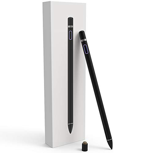 Fine Point Stylus Pen Pencil para con iPhone iPad.Negro