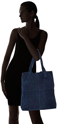 SELECTED FEMME - Sfsade Suede Bag, Borsa a spalla Donna Blau (Ombre Blue)