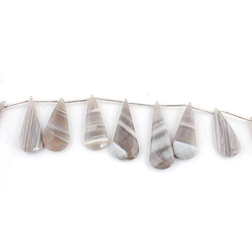 1 Strand Natural Bolder Opal Faceted Briolettes - Long Pear Drop Beads 41mmx17mm-54mmx18mm 8 inches by ()