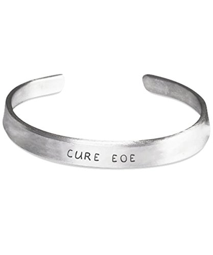 Eosinophilic Esophagitis Awareness Bracelet - Cure EOE - Stamped Bracelets