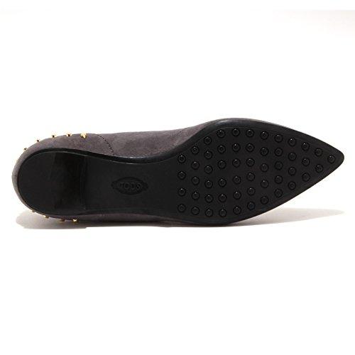 WW donna BALLERINA shoe 4185P woman TOD'S scarpa GOMMA Grigio ballerina wBgqIq47