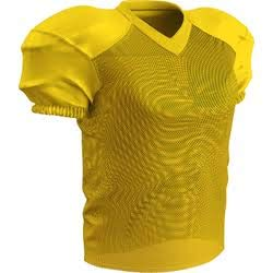CHAMPRO Adult Stretch Polyester Practice Football Jersey, Gold, X-Large