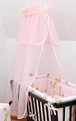 Pink Cradle Moses Basket Baby Canopy For Rocking Crib Swinging Crib