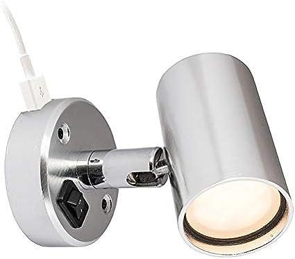Batsystem Kojenlampe 12v Tube D2 Mit Usb Anschluss Led Aluminium Amazon De Sport Freizeit