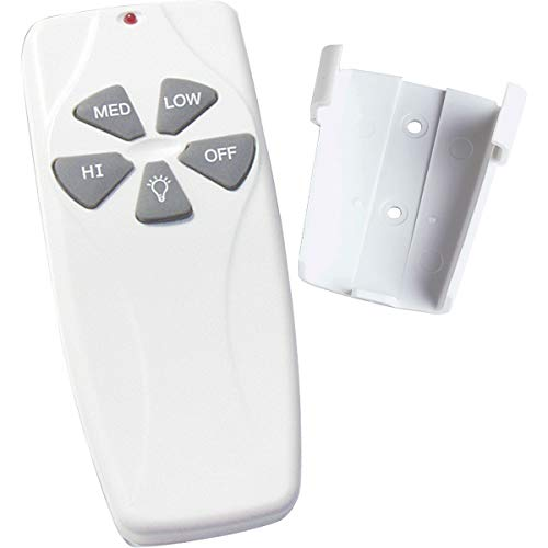 (Progress Lighting P2614-01 Fan and Light Hand Held Remote for Fan Speed and Dimming Light Control, White)