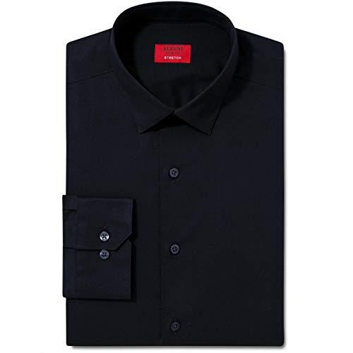 Alfani Mens Spectrum Slim Fit Stretch Dress Shirt Black - Mens Shirt Dress Alfani