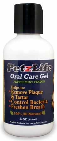 Pet Oral Gel - PetzLife Oral Care Gel Original Peppermint 4oz