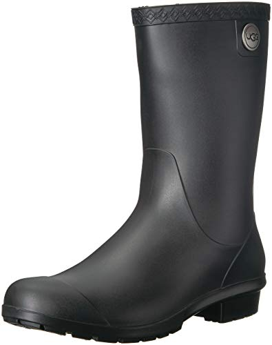 - UGG Women's Sienna Matte Rain Boot, Black, 5 M US