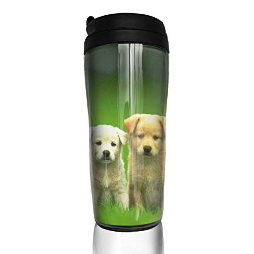ZYGCMYX Cute Dog Brother and Sister Printed Graphic Coffee Cup Insulated Travel Car Mug