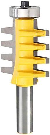 1//2 1 PC 1//2o 1//4 V/ástago Reversible Dedo Pegamento Junta Fresa Broca para trabajar la madera Fresa Herramienta M/áquina de grabado Cortador de espigas de dientes c/ónicos