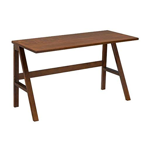 Wooden Rectangular Writing Desk, Dark Tobacco + Free Basic Design Concepts Expert Guide
