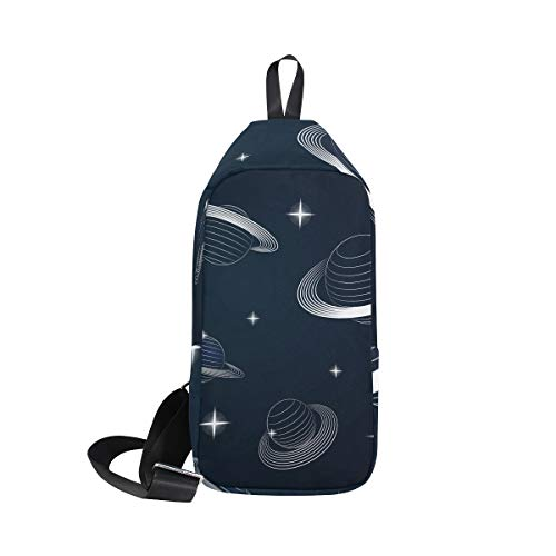 - LORVIES Saturn Planets In Outer Space Sling Bag Shoulder Chest Cross Body Backpack Lightweight Casual Daypack for Men Women
