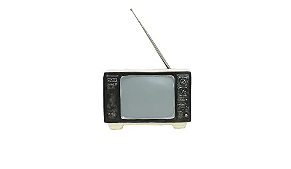 LHZTZKA Antiguo televisor TV Decoración de hojalata Antiguo ...