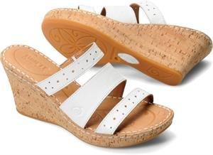 Born Womens Marjorie Sandal White Size 11