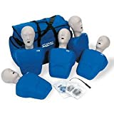 CPR Prompt (5 Pack) BLUE Adult/Child Manikins w/50 Lung Bags, Nylon Carry Case & Tool - LF06100U