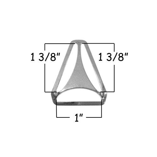 Qty 25 Triangle Back Slide Adjusters 1