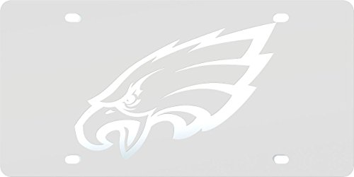 Philadelphia Eagles FROST Design Deluxe Laser Cut Acrylic Inlaid Mirrored License Plate Tag Football ()