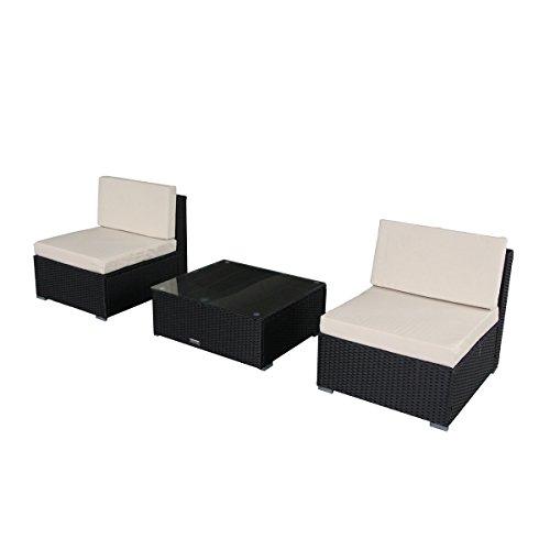U-MAX 7 Piece 7-12 Pieces Patio PE Rattan Wicker Sofa Sectional Furniture Set