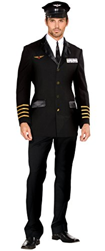 Mile High Pilot Hugh Jorgan Adult Costume - X-Large