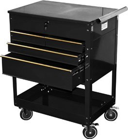 ATD-7046-Black-4-Drawer-Service-Cart