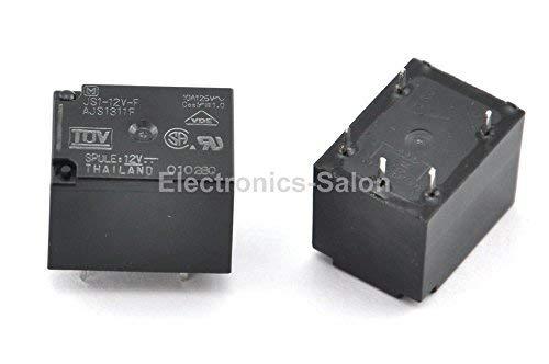 DC 12V. SPDT 1 Form C Electronics-Salon 2PCS JS1-12V-F 10A Cubic Type Power Relay