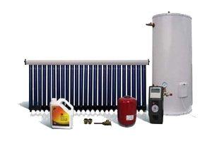 Calentador de agua solar forzado, para balcones o terrazas, depósito de 200 L,