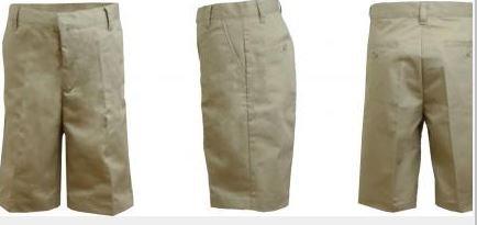 K&A Company Boys Husky Khaki Flat Front Shorts - Size 16H Case Pack 24 by K&A Company