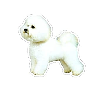 bichon frise dog decal sticker dogs car got window - Frise Vinyle