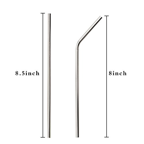 Portable Stainless Steel Straws 8 5 Long Reusable
