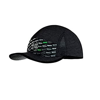 BUFF Unisex Run Cap R-geotrik, Grey Multi, One Size