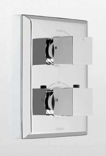 Toto TS930C#PN Lloyd Thermostatic Mixing Valve Trim with Single Volume Control, Polished Nickel