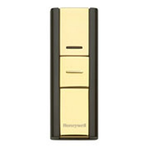 Honeywell RPWL302A1005/A Decor Wireless Push Button, Brass