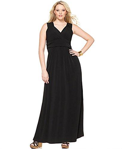 Buy black ruched dress plus size - 8
