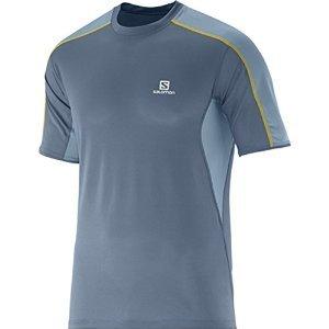 Price comparison product image Salomon Trail Runner Tee - Men's Bleu Gris / Stone Blue Large