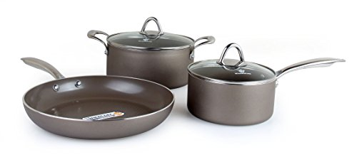 WaxonWare Hive Nonstick Cookware Set 5 PCS Pots and Pans Set (Frying Pan, Saucepan, Dutch Oven) - PTFE, PFOA and APEO Free Plus Induction & Oven Safe by WaxonWare (Image #4)