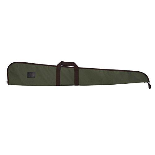 Slip Rifle Air Gun (TOURBON Hunting Nylon and Leather Shotgun Case Gun Bag With Adjustable Shoulder Strap (Green with Brown Trim, 50 Inch))