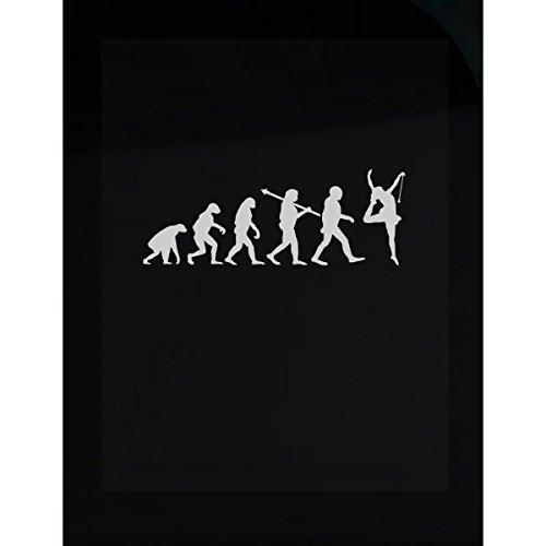 Wind Twirler (Baton Twirling Human Evolution Athletics Sports Twirler Gift - Sticker)