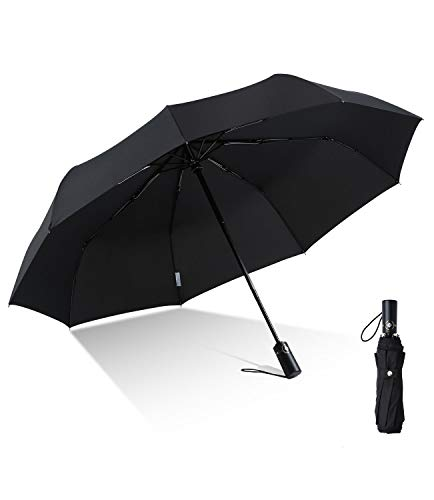 boy Windproof Travel Umbrella, Compact Umbrella Automatic Open Close, 9 Ribs Reinforced Windproof Frame