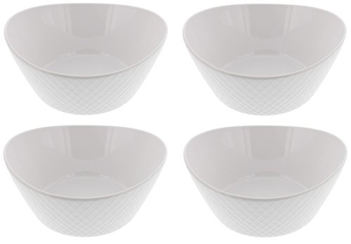 Over & Back 4-Piece 'What a Dish' Porcelain Bowl Set, (4 Stacking Bowls)