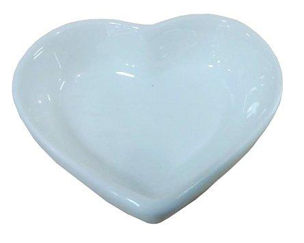 Super White Heart Shape Porcelain Sauce Dish (12 Count) OT-4403 (Sauce Dish Shape)