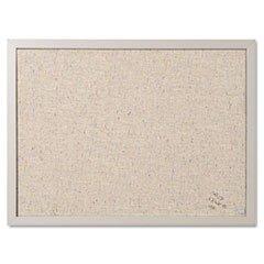 MasterVision FB0470608 Designer Fabric Bulletin Board, 24X18, Gray Fabric/Gray Frame Designer Cork Board