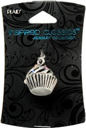 Bulk Buy: Plaid Crafts Inspired Classic Charm 1/Pkg Cupcake (3-Pack)