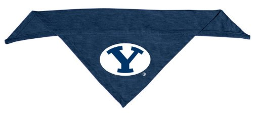 Dog Zone NCAA Pet Cotton Bandana, Large, Brigham Young University