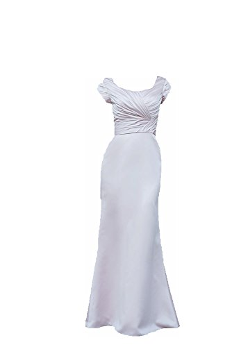 Venus Bridal Julie Modest Satin Full length Gown (8, Ice Pink) (Venus Dress Special Occasion)