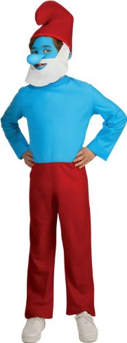 Smurfs Movie Papa Smurf Costume,Small 4-6 -