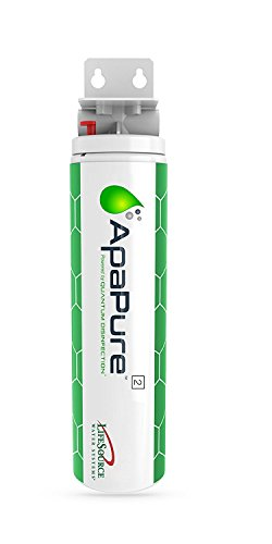 (Apapure 2 Home Water Filter W/Carbon Filter (Removes Bacteria, Viruses, Chlorines, Chloramines) Lab Tested (No Chemicals, Power, Maintenance) [NSF Certified] Install Under Sink, by LifeSource Water)