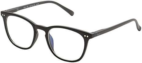 WealthyShades Blue Light Blocking Glasses for Computer Use, Anti Eyestrain Lightweight Screen Glasses, Black, Men/Women