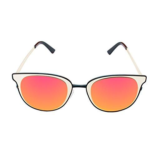 ... Vintage Anti UV400 Verre Soleil 100 Effect Style Fashion Léger Grosses  Polarisée Orange Métallique avec Protection ... 01ed3f35f148